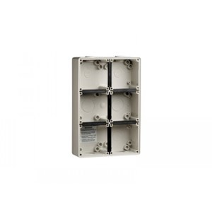 PDL 56 Series Modular 6Gang Enclosure - 63mm Deep