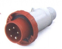 SCAME Male 3 pin IP67 Plug for Caravan Lead