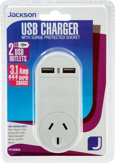 Plug in 2Port USB Charger 3.15A