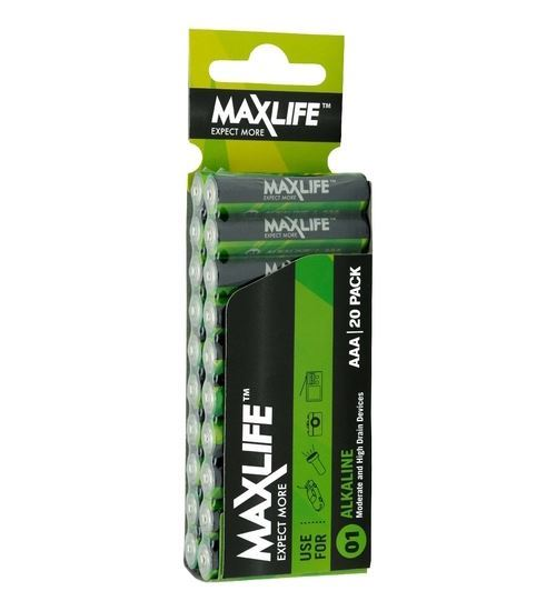 Maxlife AAA Battery 20Pack