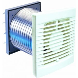 Manrose FAN0053 Classic XP100S 100mm Thru-Wall Extraction Fan Kit