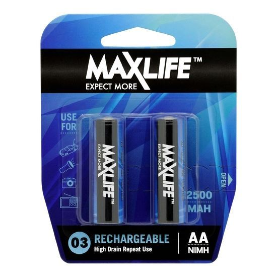 Maxlife Rechargeable AA 2500mA 2Pack
