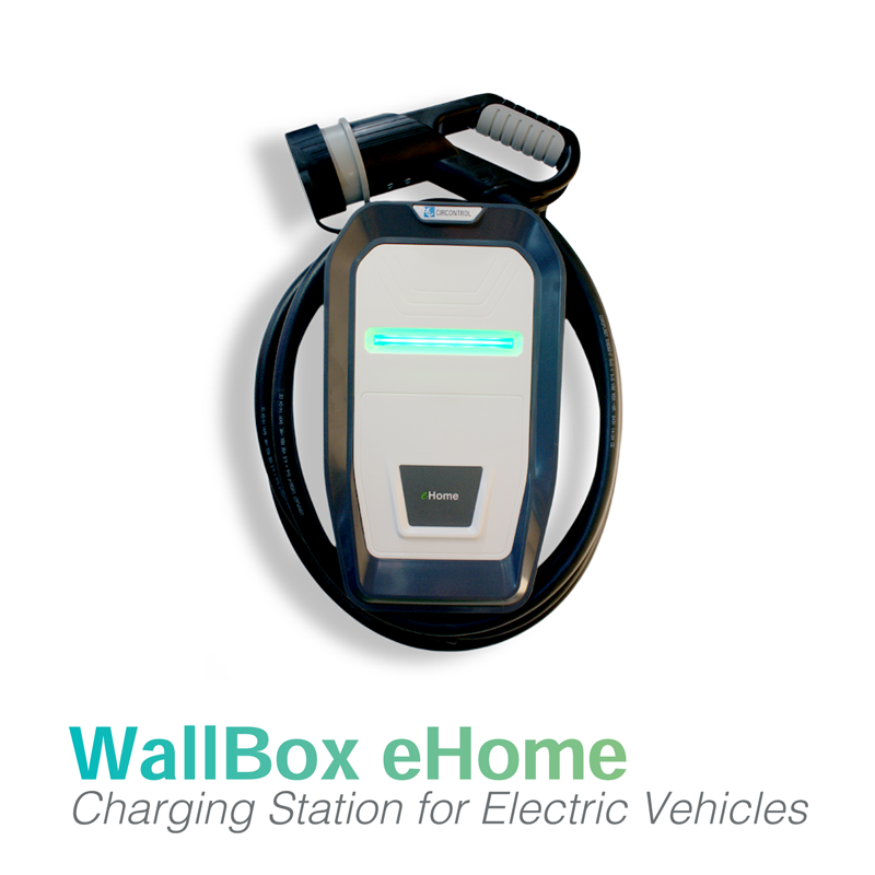 eHome EV Charger 32Amp 7.4kW with 5Metre Lead  (With RCD Protection) - Select Plug Type