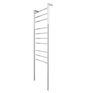 Goldair 10-Bar Round Tall Towel Rail - Stainless Steel
