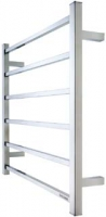 Goldair 6-Bar Square Towel Rail - Stainless Steel
